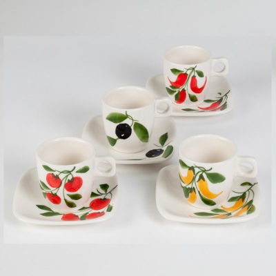 Sapori Espresso Cup, Caffe Espresso Cup, Cappuccino Cup, Sapori Cappuccino/Tea Cup