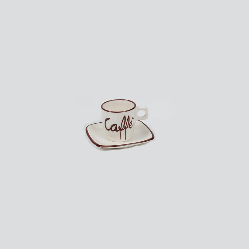 "Espresso Cup ""Caffe"" Decoration - V412"